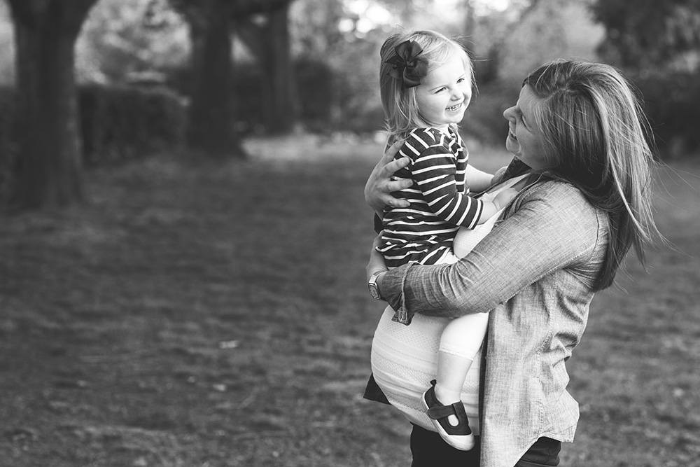 Portland maternity photography with sibling