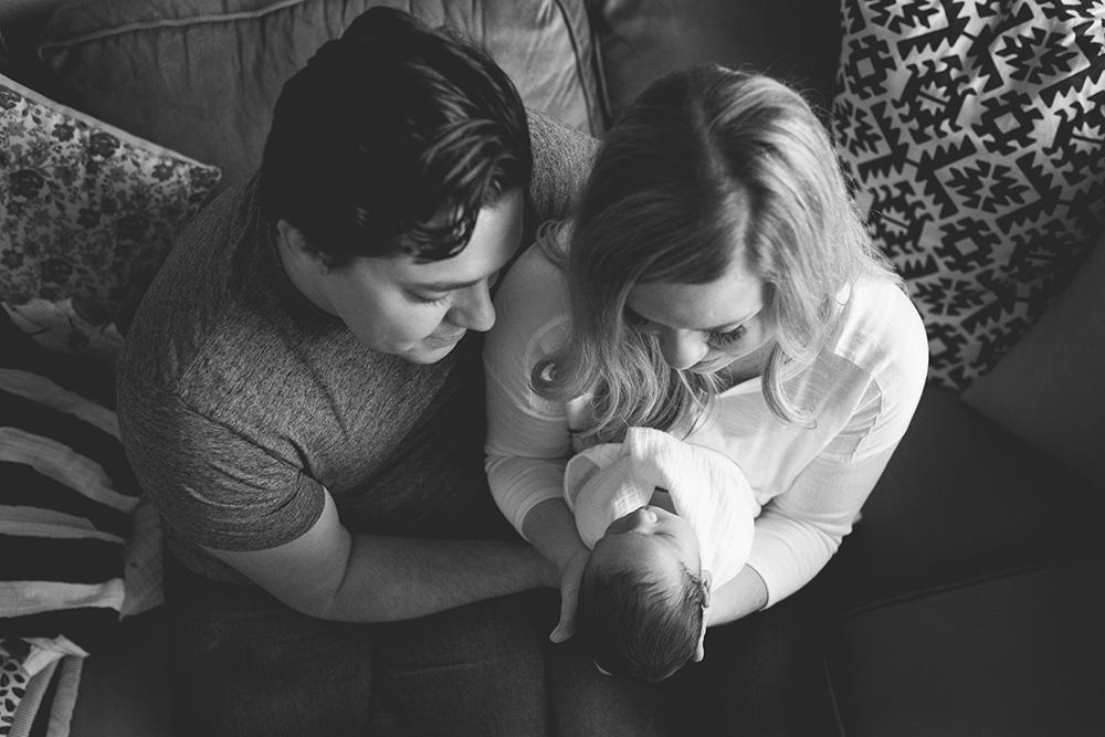 parents holding newborn portland