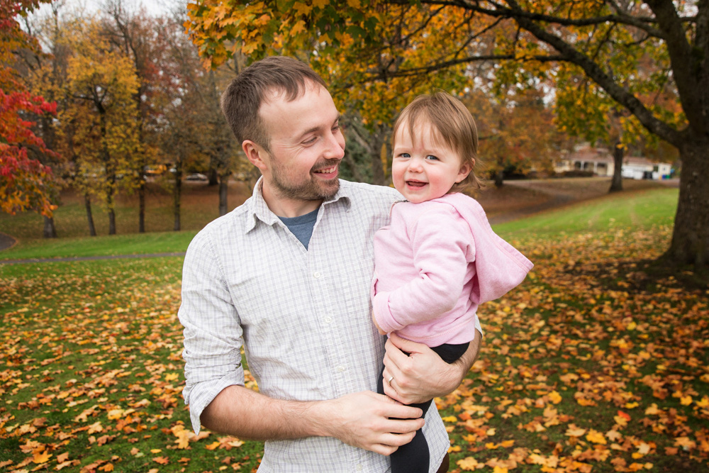 Portland lifestyle family photography father daughter