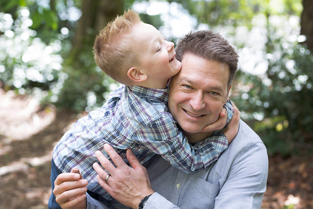 Portland family photography father son